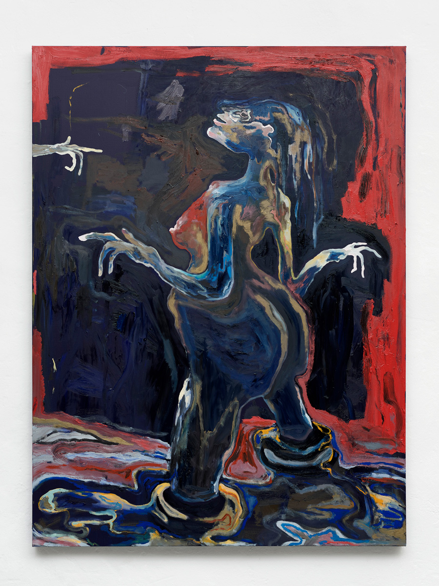 Do not point with your bare finger, 2019, Oil on canvas, 160×120 cm