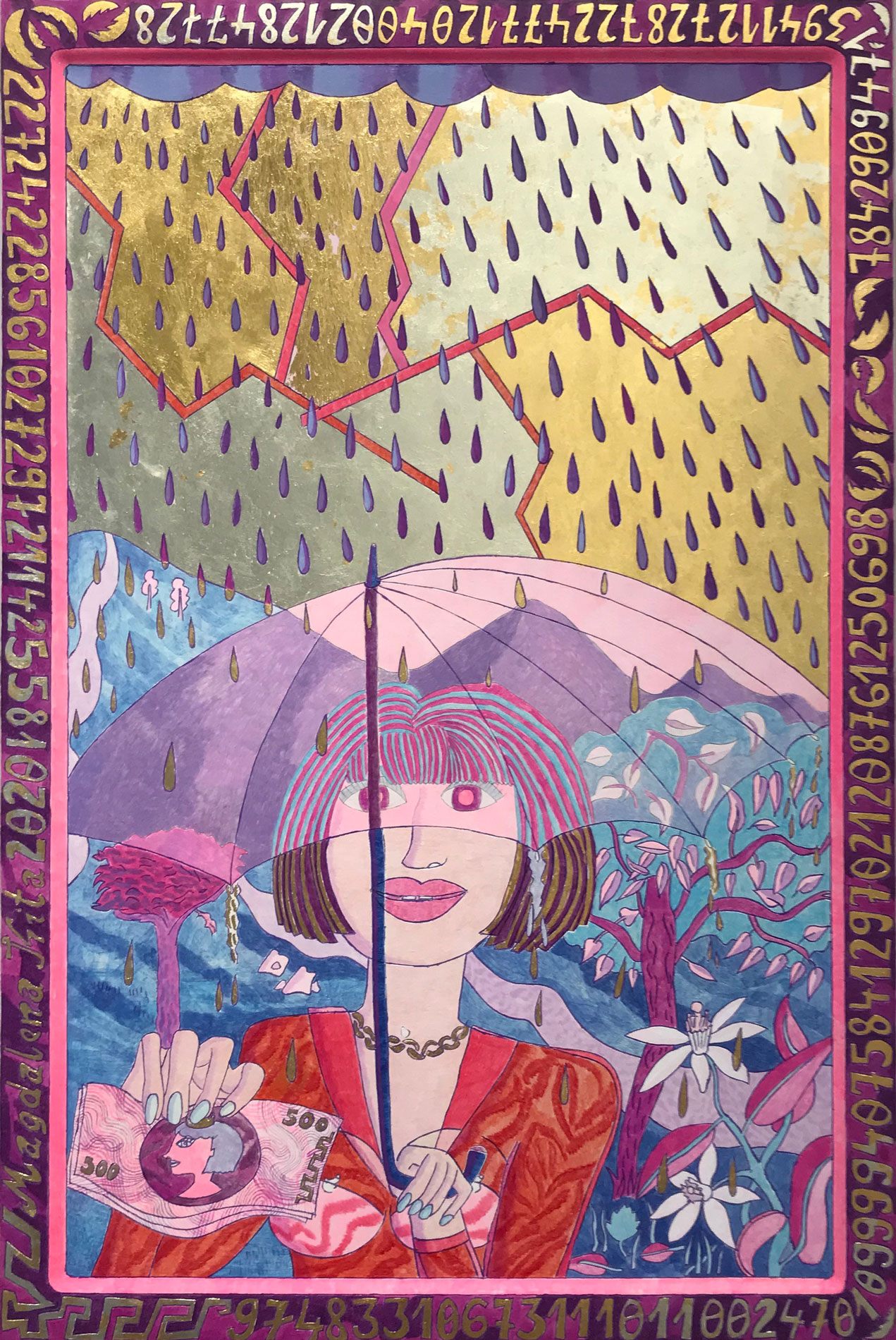 Purple-Rain-·-2018-·-egg-tempera-and-gold-leaf-on-wood-60-x-40-cm