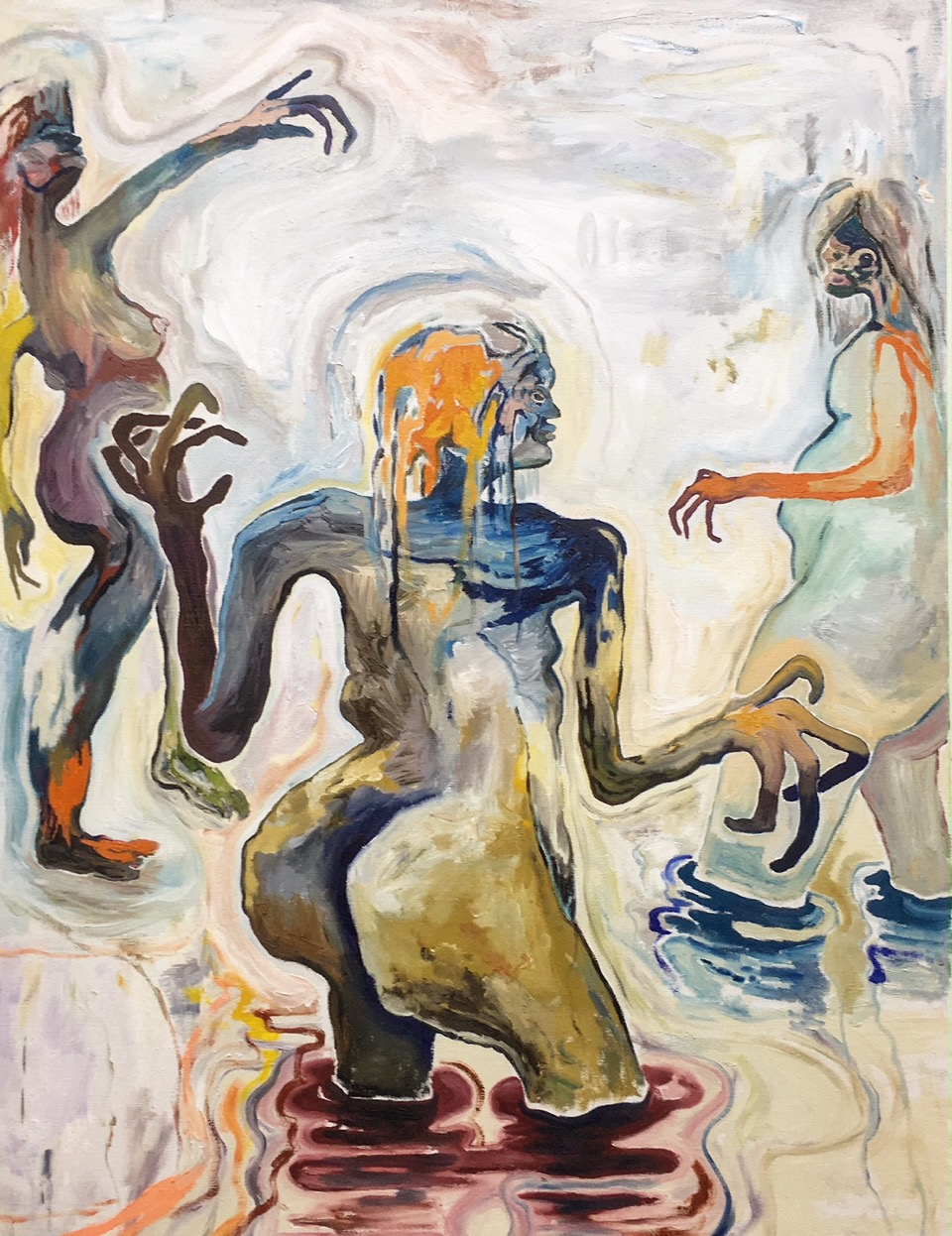 Three, 2019, oil on linen, 130×100 cm