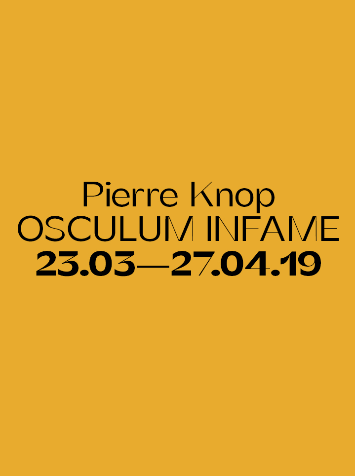 Pierre Knop OSCULUM INFAME - text