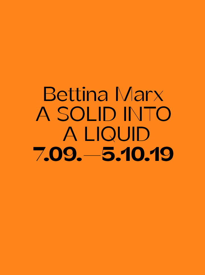 Bettina Marx A SOLID INTO A LIQUID Text
