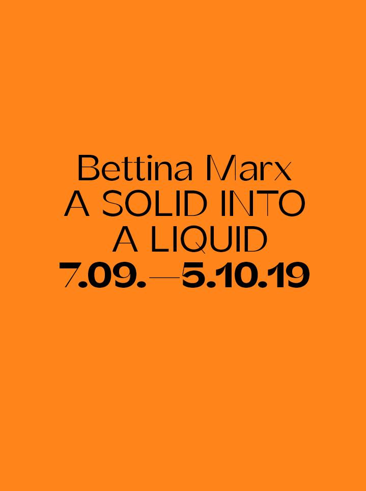 Bettina Marx A SOLID INTO A LIQUID Text