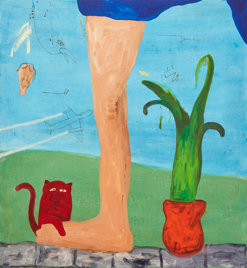 Janes Haid-Schmallenberg, 2019, In Würde Wachsen, Oil and acrylic on canvas, 130 x 120 cm