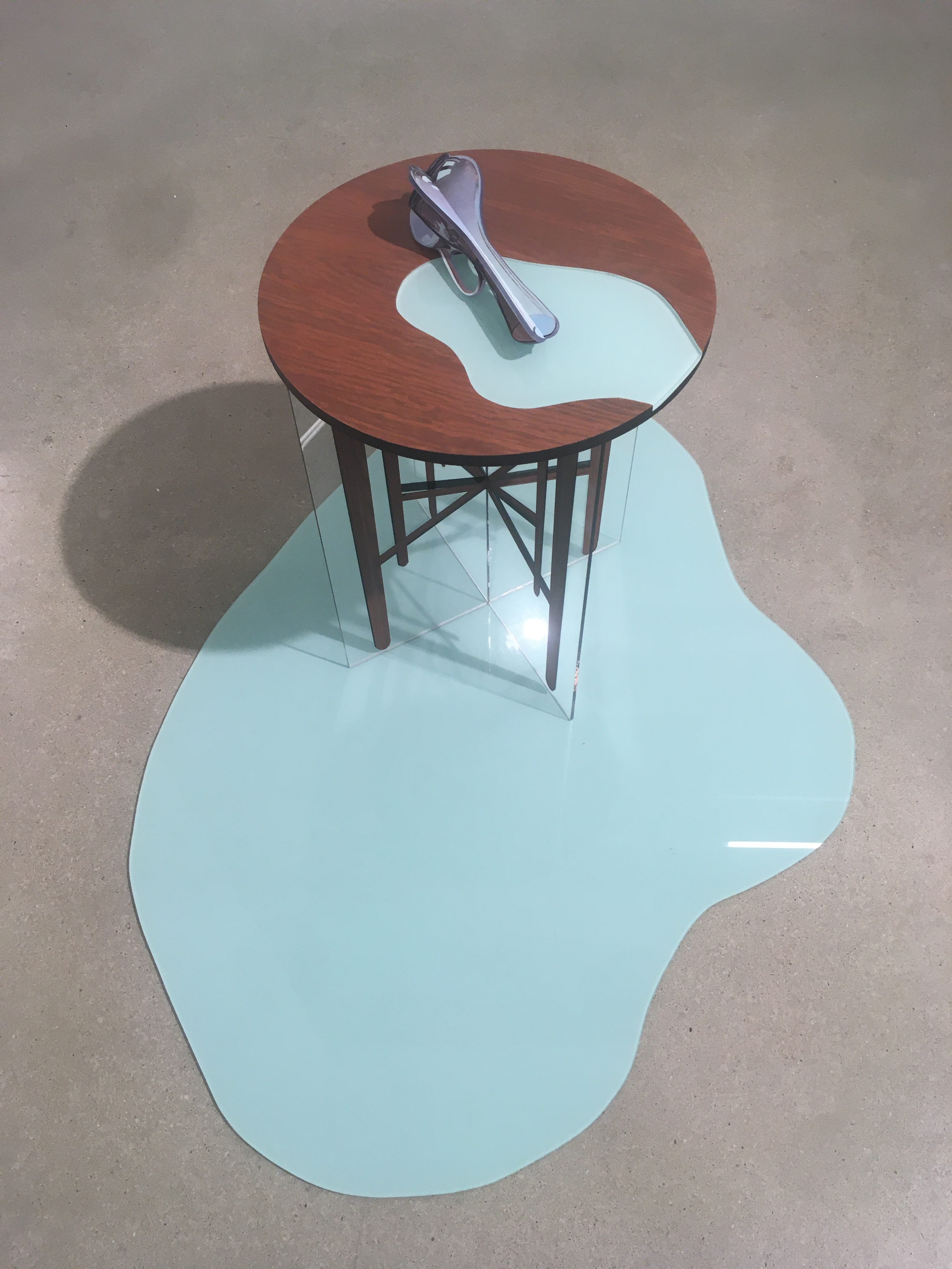 Deathbed Reflections III_65x103x75cm_Öl und Acryl auf Plexiglas, Bleistift und Acryl auf Holz_2020