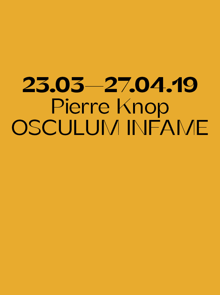 Pierre Knop OSCULUM INFAME - text