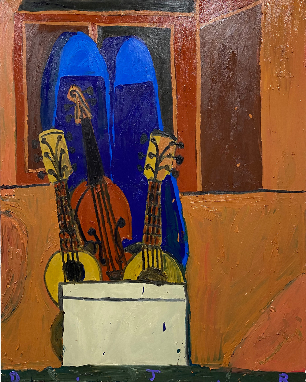 Danny-Romeril-Antique-Shop-Instruments-2020-Oil-on-canvas-120-x-150-cm