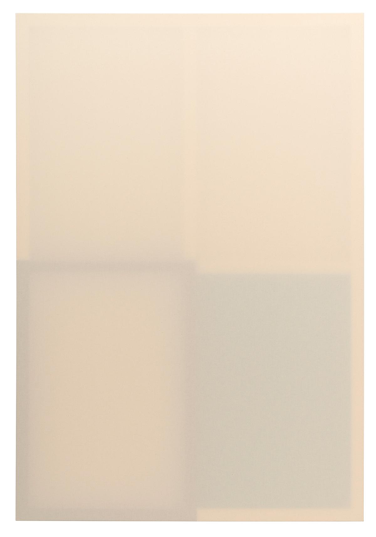 Daniel Schubert, untitled (pieces series 3_3), 2021, wooden stretcher, canvas, distemper, acrylic, 170 x 115 cm