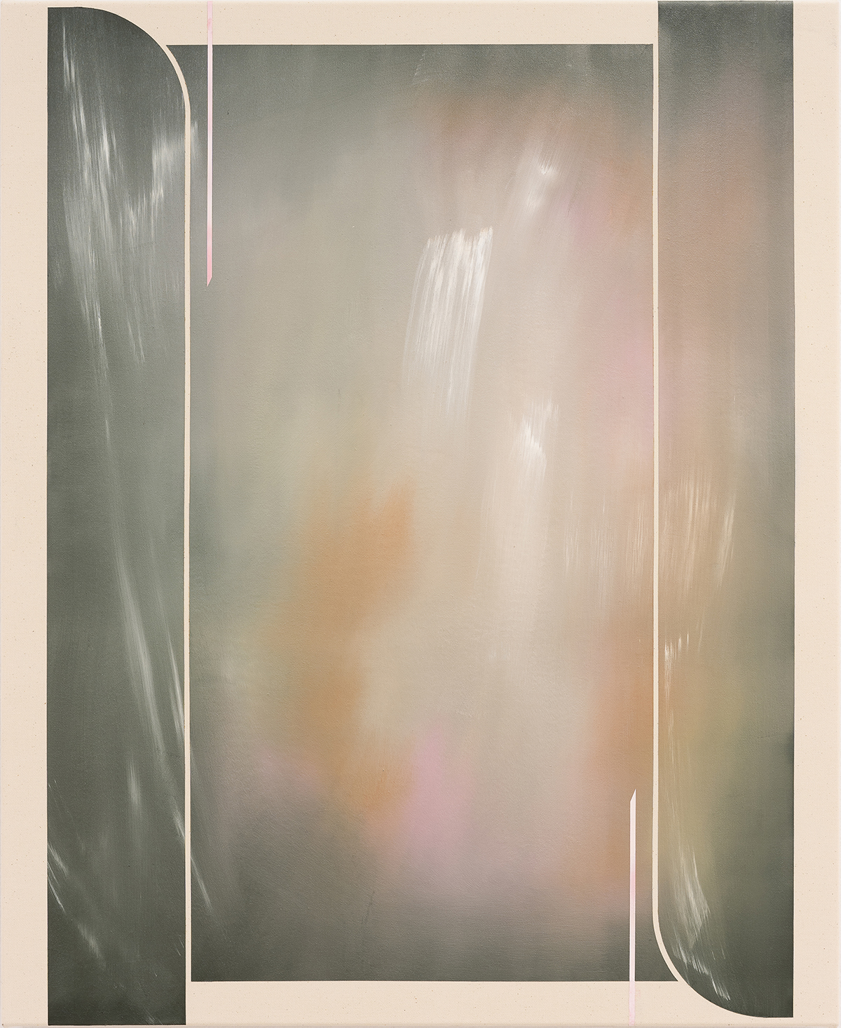 Kate Andrews, hoverbeam, 2021, Oil on canvas, 110 x 90 cm