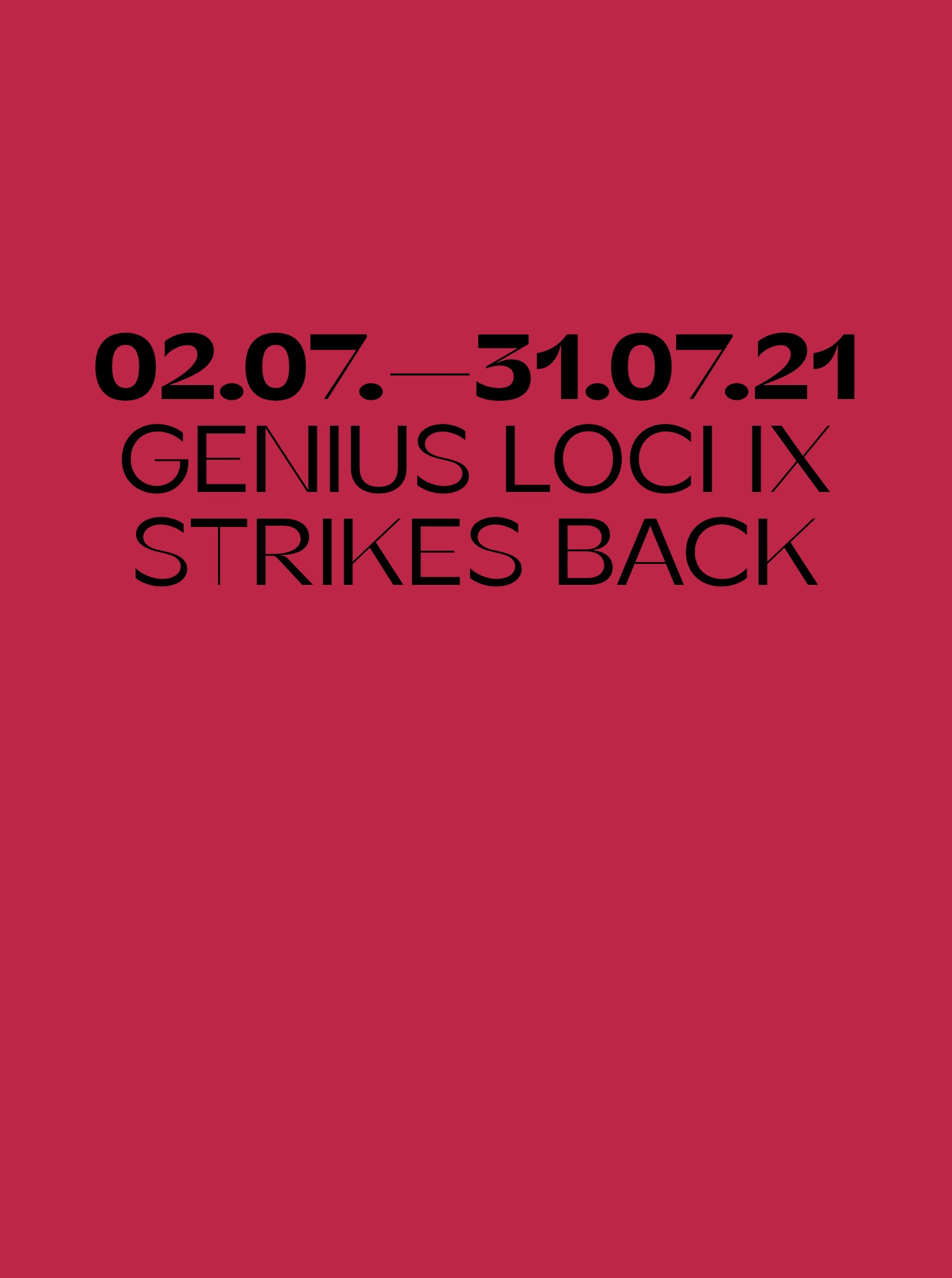 GENIUS LOCI IX - STRIKES BACK Text