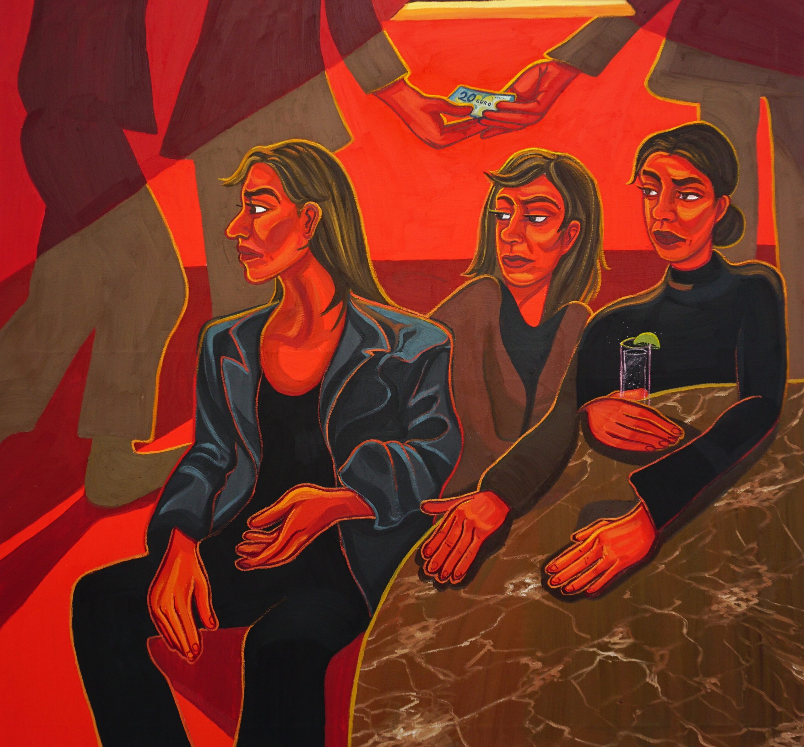 After Midnight, 2021, 170 x 160 cm, oil on canvas