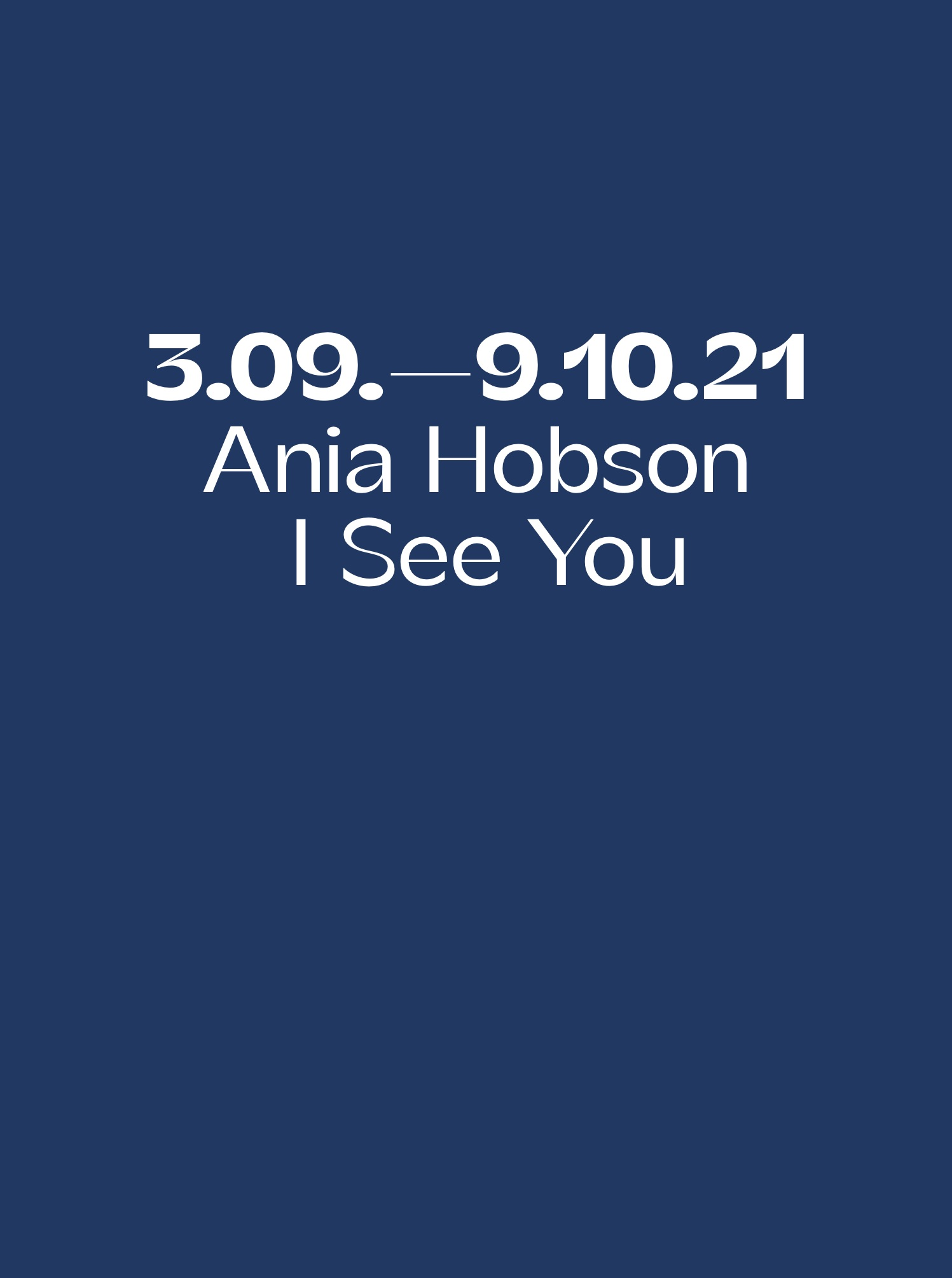Ania Hobson - I See You Text